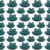 绿色叶子样式 库存例证