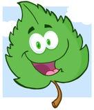 绿色叶子漫画人物 库存照片