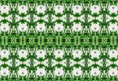 绿色叶子的装饰品在冰的 免版税库存照片