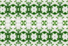 绿色叶子的装饰品在冰的 图库摄影