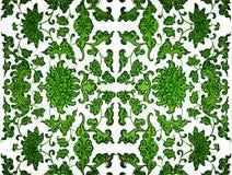 绿色叶子锦缎 图库摄影