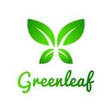 绿色叶子,叶子商标 免版税库存图片