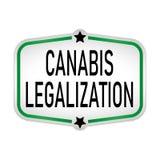 绿色合法化大麻卡片,传染媒介网例证 向量例证