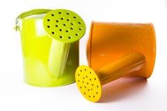 绿色和橙色阵雨 免版税库存图片