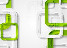 绿色和灰色摆正抽象技术背景 库存图片