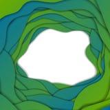 绿色和蓝色抽象公司波浪背景 免版税库存图片