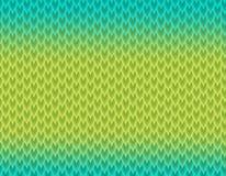 绿色和蓝色梯度蛇皮样式,长的锋利的标度 向量例证
