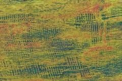 绿色和蓝色老破旧的木背景的纹理 免版税库存照片