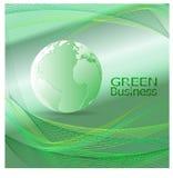 绿色商业环境背景Vector_Green行星 免版税图库摄影