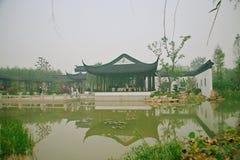 绿色商展庭院在郑州 库存图片