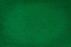 绿色啤牌和赌博娱乐场的毛毡纹理 库存图片