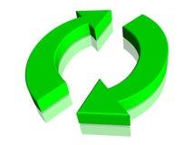 绿色回收回收符号符号 免版税库存图片