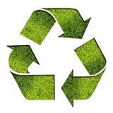 绿色回收符号 免版税库存照片