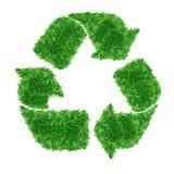 绿色回收符号 免版税库存图片