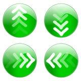 绿色图标万维网 免版税库存照片