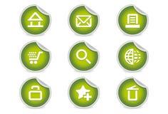 绿色图标互联网粘性网站 免版税库存图片