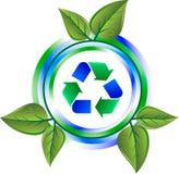 绿色图标回收 库存照片