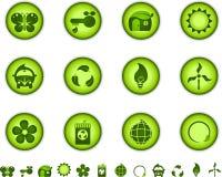 绿色图标本质 库存照片