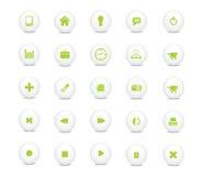 绿色图标集合万维网 免版税库存图片