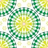 绿色圆的坛场无缝的样式 皇族释放例证