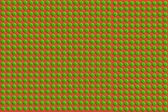 绿色圆的小点抽象七高八低的表面纹理在红色背景,圣诞节题材的 向量例证, EPS10 库存例证