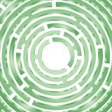 绿色圈子迷宫 免版税库存照片