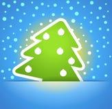 绿色圣诞树 免版税库存照片