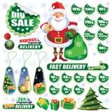 绿色圣诞节销售额 免版税库存图片