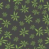 绿色在黑背景留下无缝的样式 库存例证