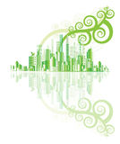 绿色城市向量 库存照片