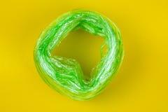绿色塑料绳索 免版税库存图片
