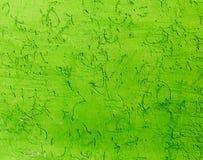 绿色墙壁在房子里作为抽象背景 免版税库存照片