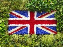 绿色墙壁英国国旗 免版税库存图片