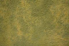绿色墙壁黄色 库存图片