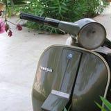 绿色大黄蜂类摩托车 免版税库存照片