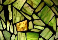 绿色宝石马赛克  免版税库存图片