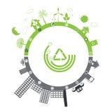 绿色寿命与污染 免版税图库摄影