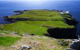 绿色小岛半岛skye 免版税库存照片