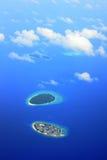 绿色居住的海岛 免版税库存照片