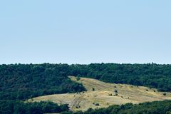 绿色山 免版税图库摄影