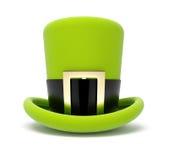 绿色帽子帕特里克s圣徒顶层 库存图片