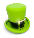 绿色帽子帕特里克s圣徒顶层 向量例证
