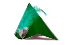 绿色帽子当事人 库存图片
