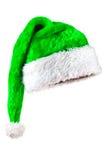 绿色帽子魔术圣诞老人 库存图片