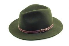绿色帽子 库存图片
