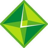 绿色形状 免版税库存图片