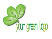 绿色徽标符号 库存照片