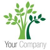绿色徽标结构树 库存例证