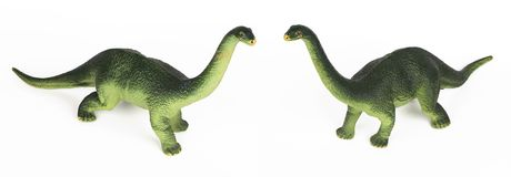 绿色恐龙diplodoc塑料玩具模型 免版税库存图片