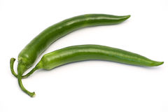绿色意大利辣味香肠 库存照片